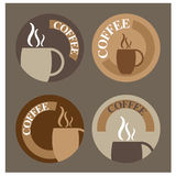 Coffee icons or banners Stock Photos