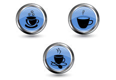 Coffee icons Royalty Free Stock Image