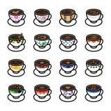 Coffee Icons Stock Photos