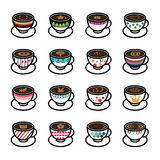 Coffee Icons Stock Images