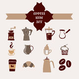 Coffee icons hand-drawing - Illustration Stock Photos