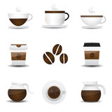 Coffee icons Royalty Free Stock Images