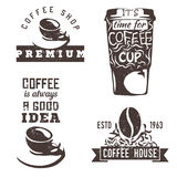 Coffee icons. Coffee logos. Coffee cup. Coffee is always a good idea. Coffee house. Coffee bean in logo Stock Photo