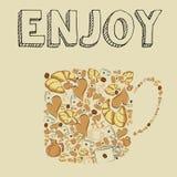 Coffee icons Royalty Free Stock Photos
