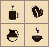 Coffee. Icons over pink background vector illustration Royalty Free Stock Photo