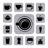 Coffee icons Stock Image