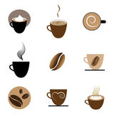 Coffee Icons Set Royalty Free Stock Photography