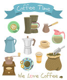 Coffee Icons Stock Photography