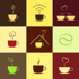 Coffee icons set Royalty Free Stock Photos