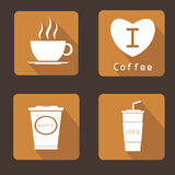 Coffee icons set  design Stock Images