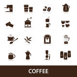 Coffee icons set eps10. Brown coffee icons set eps10 Stock Images