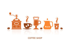 Coffee icons set Royalty Free Stock Photos