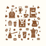 Coffee icons set Royalty Free Stock Photo
