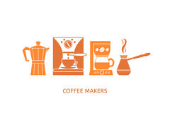 Coffee icons set Stock Photos