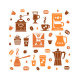 Coffee icons set Royalty Free Stock Image