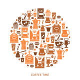 Coffee icons set Royalty Free Stock Images