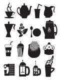 Coffee Icons Royalty Free Stock Photo
