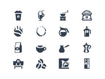 Coffee icons royalty free illustration