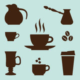 Coffee Icons Set. Vector elements for coffee time design Royalty Free Stock Photo