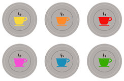 Coffee icons set. Vector file of coffee icons set Stock Images