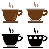 Coffee icons set. Vector file of coffee icons set Stock Image