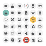 Coffee icons set. Stock Images