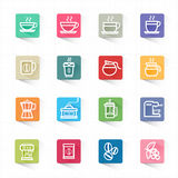 Coffee icons set and white background. This image is a vector illustration Royalty Free Stock Image