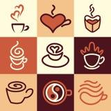 Coffee icons vector set Stock Photo