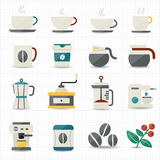 Coffee icons and white background Royalty Free Stock Image
