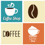 Coffee icons Royalty Free Stock Photography