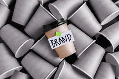 Coffee identity and branding concept royalty free stock photos