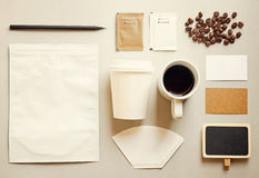 Coffee identity branding mockup set Stock Photography