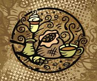 Coffee illustration Stock Image