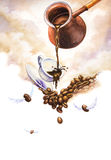 Coffee illustration Royalty Free Stock Images