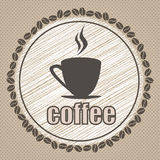Coffee illustration design vintage Stock Photo