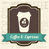 Coffee illustration Royalty Free Stock Photography