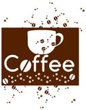 Coffee background with cup stock images