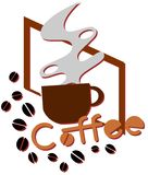 colorful Coffee illustration isolated royalty free stock photography
