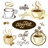 Coffee illustration. vector. Vector set of coffee illustrations Royalty Free Stock Photos