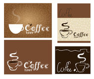 Coffee illustrations Stock Images