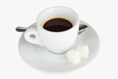 Free Coffee In A Cup With Spoon Royalty Free Stock Photo - 20456885