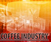 Coffee industry Abstract concept digital illustration Stock Images