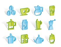 Coffee industry signs and icons Royalty Free Stock Image