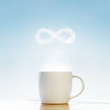Coffee infinity symbol. Coffee concept infinity symbol concept stock images