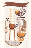 Coffee infographics Royalty Free Stock Image