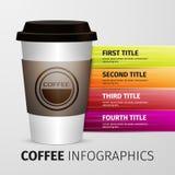 Coffee infographics Stock Photography