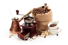 Coffee ingredients. Royalty Free Stock Photos