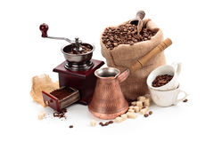 Coffee ingredients. Stock Images