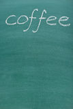 Coffee inscription on blackboard Stock Images