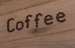 Coffee inscription Royalty Free Stock Images